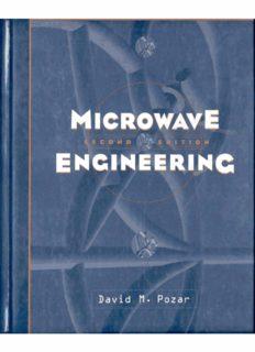 Microwave Engineering 2nd Ed David Pozar