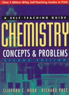 Chemistry: Concepts and Problems: A Self-Teaching Guide (Wiley Self-Teaching Guides)