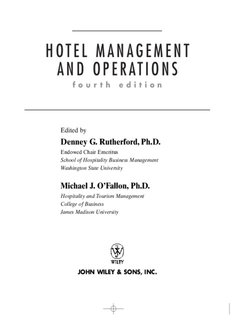HOTEL MANAGEMENT AND OPERATIONS - Free MBA Preparation