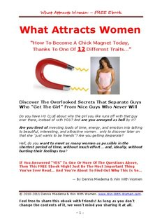 What Attracts Women - Wing Girl Method - Do you want to attract women?