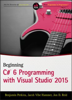 Beginning C# 6.0 Programming with Visual Studio 2015