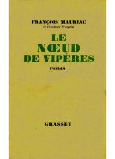 Le Noeud de vipères de François Mauriac