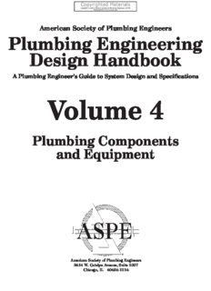 Plumbing Engineering Design Handbook - A Plumbing Engineer's Guide to System Design and Specifications, Volume 4 - Plumbing Components and Equipment