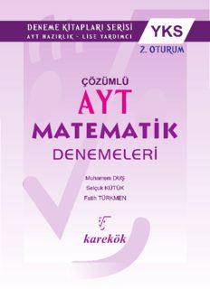Karekök AYT 20 Matematik Deneme