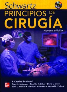 Schwartz Principios de Cirugía