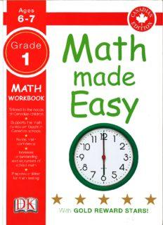 Math Made Easy Grade 1: math workbook (Canadian edition)