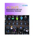 ACSM's Resources for the Personal Trainer, 4th edition