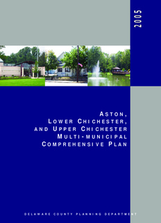 Aston, Lower Chichester, and Upper Chichester Multi-Municipal Comprehensive Plan, Delaware ...