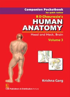 Companion Pocketbook for Quick Review B.D. Chaurasia's Human Anatomy: Head, Neck and Brain