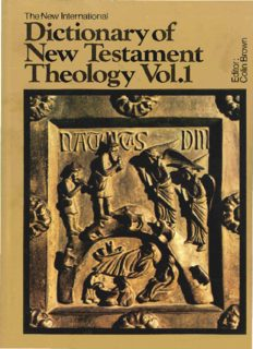 The New International Dictionary of New Testament Theology (4 Volume Set)