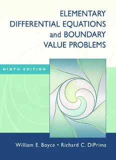 Elementary Differential Equations and Boundary Value Problems, Ninth Edition