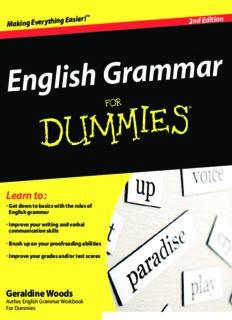 English Grammar For Dummies, 2nd Edition
