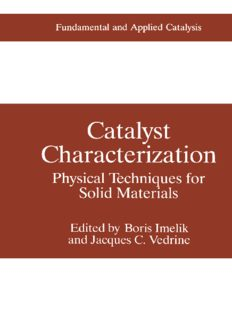 Catalyst Characterization: Physical Techniques for Solid Materials