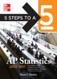 5 Steps to a 5 AP Statistics, 2010-2011 Edition (5 Steps to a 5 on the Advanced Placement