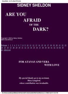 Sidney Sheldon - Are You Afraid Of The Dark