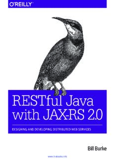RESTful Java with JAX-RS 2.0, 2nd Edition: Designing and Developing Distributed Web Services