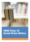 CBSE Class 10 Social Notes History