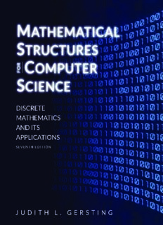 Mathematical structures for computer science : discrete mathematics and its applications