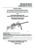 Technical Manual Long Range Sniper Rifle, M107, USMC Special Application Scoped Rifle (SASR)
