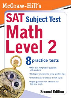 McGraw-Hill's SAT Subject Test: Math Level 2, 2 E