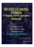 ISDN, B-ISDN, X.25, Frame-Relay, ATM Networks: A Telephony