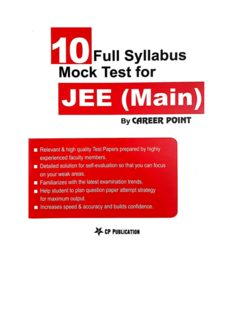 10 Full Syllabus Mock Test for IIT JEE Main C P Publication Career Point Kota Physics Chemistry Mathematics IITJEE Questions and Solutions Practice Exam