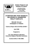 "Yeh, M. and Wickens, C. D. (2000). ""Attention and trust biases in the design of autmented reality"