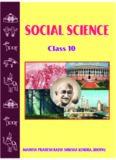 MADHYA PRADESH RAJYA SHIKSHA KENDRA, BHOPAL SOCIAL SCIENCE Class 10