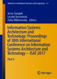 Information systems architecture and technology : proceedings of 38th International Conference on Information Systems Architecture and Technology -- ISAT 2017. Part II