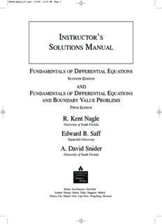 R. Kent Nagle Edward B. Saff A. David Snider