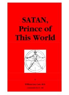 Satan - Prince of This World, William Guy Carr, R.D. - Jesus is Savior
