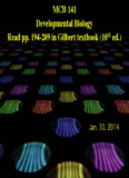 MCB 141 Developmental Biology Read pp. 194-209 in Gilbert