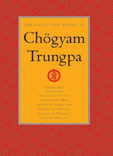 The Collected Works of Chögyam Trungpa: Volume 2