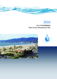 City of Santa Monica Urban Water Management Plan Santa Monica
