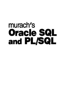 Murach's Oracle SQL and PL SQL (Training & Reference)