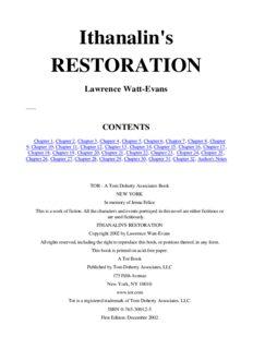 Lawrence Watt-Evans - Ethshar 8 - Ithanalin's Restoration
