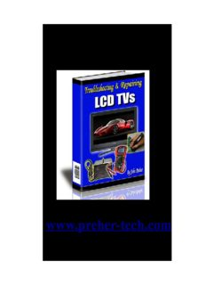 Troubleshooting and Repairing LCD TVs By John Preher www.preher-tech.com