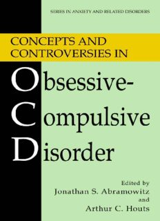 Concepts and Controversies in Obsessive-Compulsive Disorder (Series in Anxiety and Related Disorders)