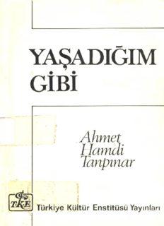 Yaşadığım Gibi - Ahmet Hamdi Tanpınar
