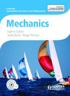 Cambridge International AS and A Level Mathematics Mechanics