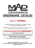 greenware catalog