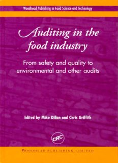 Auditing in the food industry: From safety and quality to environmental and other audits: From Safety and Quality to Environmental and Other Audits (Woodhead Publishing in food science and technology)