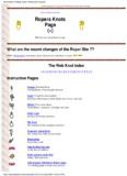Knots - Pole Shift Survival Information
