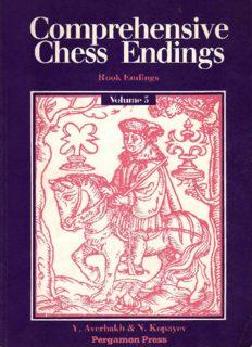Comprehensive Chess Endings: Rook Endings (Pergamon Russian Chess Series)