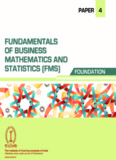Paper 4: Fundamentals of Business Mathematics & Statistic