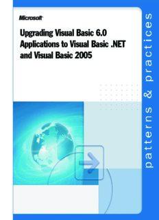 Upgrading Visual Basic 6.0 Applications to Visual Basic .NET and Visual Basic 2005