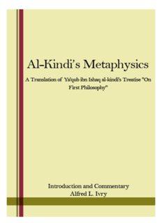 Al-Kindi's Metaphysics: A Translation of Ya'qūb ibn Isḥāq al-Kindī's Treatise On First Philosophy (fī al-Falsafah al-Ūlā)