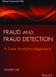 Fraud and Fraud Detection, + Website: A Data Analytics Approach