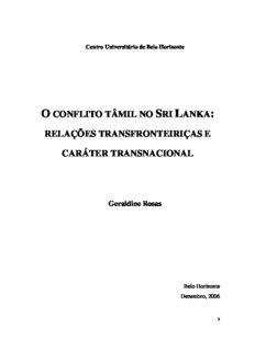 Geraldine Rosas - O conflito tâmil no Sri Lanka_relações transfronteiriças e caráter transnacional