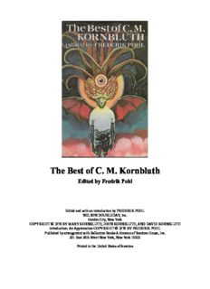 The Best of C.M. Kornbluth